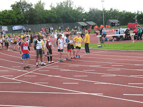 Photo: On the line for Heat 1 of the Boys U/12 300m Gala at the Cork City Sports 2012