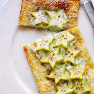 Cheese and Star Fruit Tarts.