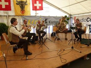"""Photo: Die """" Senta Merta Musikanten""""  von Liechtenstein unterhalten die Gäste im Festzelt"""