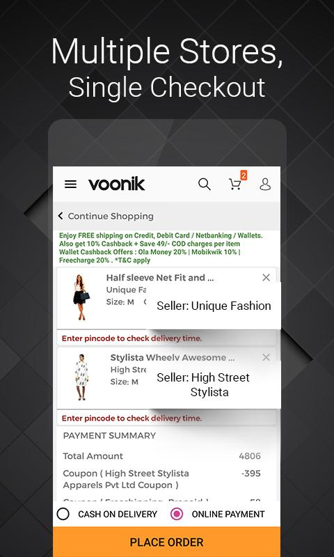 Voonik Online Shopping App- screenshot