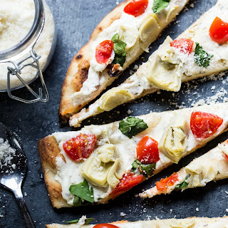 Grilled Vegetable Flatbread Pizza.