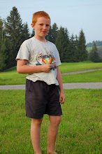 Photo: Benedict, grandson of Bernd, finishes off his ice cream