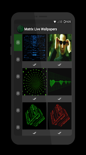 Matrix Live Wallpapers Apps for Android screenshot