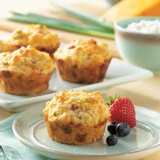 Cottage Cheese, Egg, and Ham Muffins.