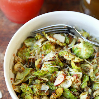 Sautéed Brussels Sprouts with Breadcrumbs and Almonds