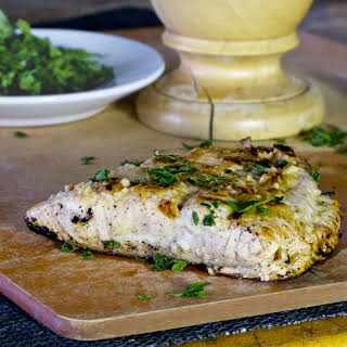 Salmon With Lemon And Ginger Marinade.