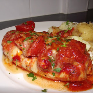 Chicken Breasts with Fresh Tomato Sauce.