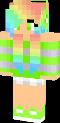 Rainbow Hair Nova Skin