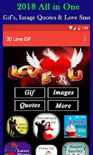 3D Love Gif - náhled