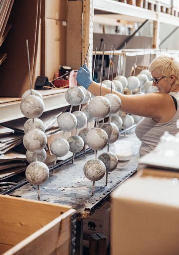 Herstellung Globen