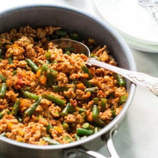 Ground Turkey Skillet with Green Beans.
