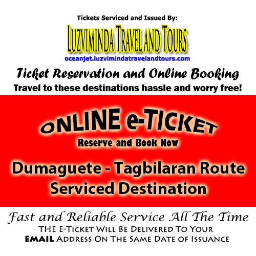 OceanJet Dumaguete-Tagbilaran Route Ticket Reservation and Online Booking