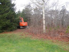 Photo: 12-26-2011 8:43 am. Construction begins.