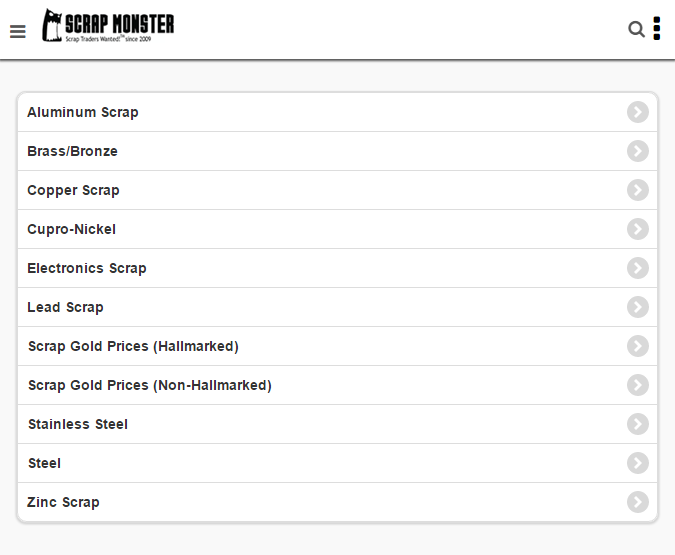 ScrapMonster Scrap Prices- screenshot