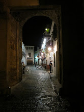 Photo: A typical alley during the night. Cars would drive in these small streets. To refrain from being hit, it was necessary to stand as close to the wall as possible.