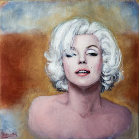 Marilyn's  last sitting by Jocelyne Maucotel - Painting All Painting ( marilyn monroe, woman, painting, portrait )