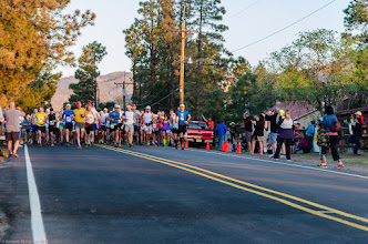 Photo: And they're off; Jemez Mountains Trail Run