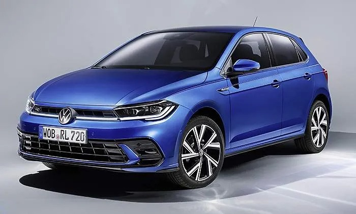 A leaked photograph of the new facelifted Volkswagen Polo.
