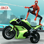 Amazing Spider 3D Hero: Moto Rider City Survival