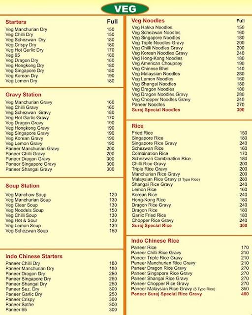 Suraj Chinese Corner menu 3