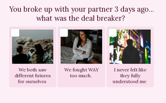 quiz question about what is a deal breaker in your relationship