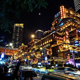 重慶洪崖洞 by Steve NG - Buildings & Architecture Public & Historical ( china, 洪崖洞, 重慶, chongqing )