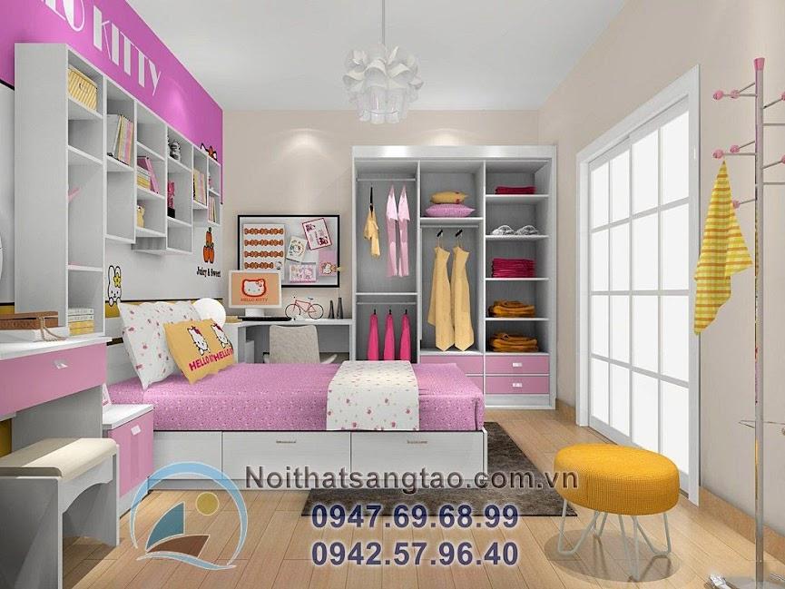 thiết kế phòng ngủ bé gái đẹp 8