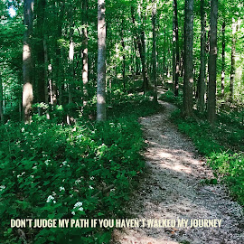 Don't Judge by Lorna Littrell - Typography Quotes & Sentences ( path, typography, quote, journey, inspiration, kindness )