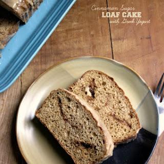 Glazed Cinnamon Sugar Loaf Cake {with Greek yogurt}