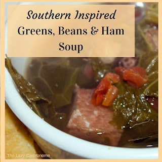 Southern Inspired Greens, Beans & Ham Soup