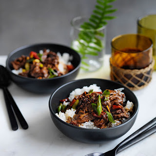 Sichuan-style Boiled Beef With Rice.