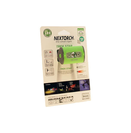 Nextorch pannlampa 220 lm green