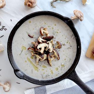 Coconut Cream of Mushroom Soup