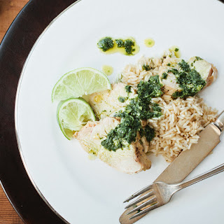 Pan-Roasted Chicken with Cilantro-Lime Salsa Verde
