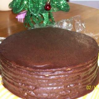 Old Fashioned Multi-Layer Chocolate Cake.