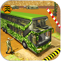 Army Bus Driving 2019 - Military Coach Transporter icon