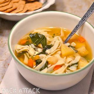 Oven Roasted Vegetable & Noodle Soup