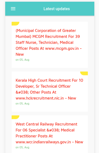 Sarkari Naukri Jobs by Bharat Bhushan (Google Play, United