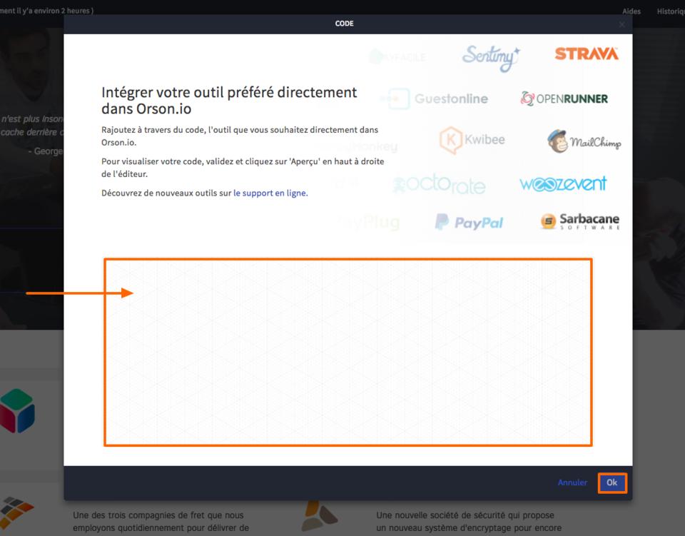 Connecter votre site à des outils externes