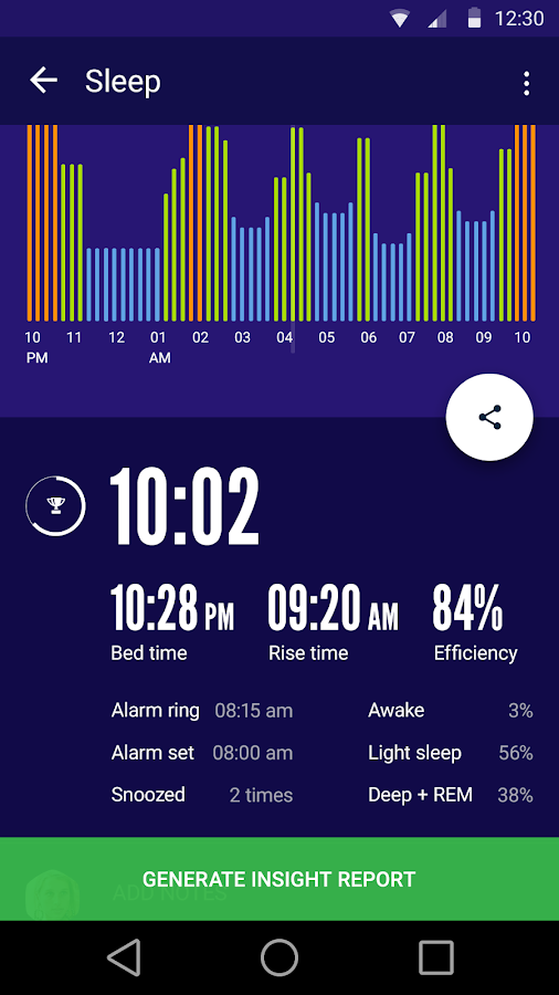 Sleep Time : Sleep Cycle Smart Alarm Clock Tracker- screenshot