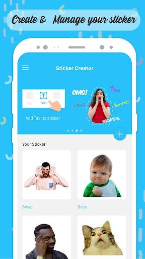 Personal Sticker Maker - WAStickerApps screenshots 1