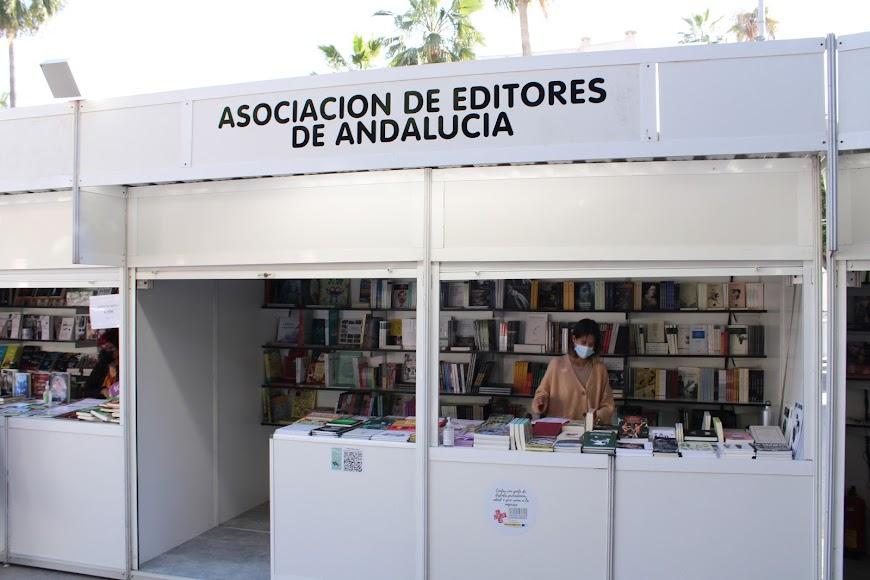 Stand de la Asociación de Editores de Andalucía.