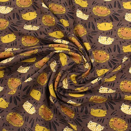 EKO Wild Cats Bomullstrikå - brun