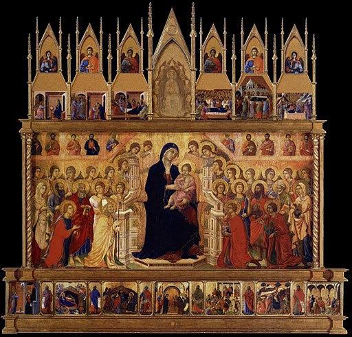 Duccio Maesta Altarpiece, what we believe the entire altarpiece looked like