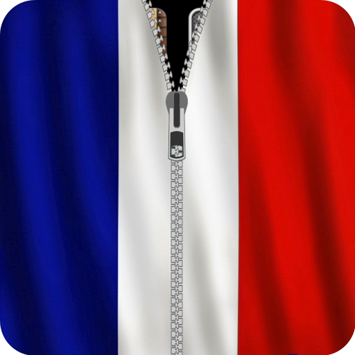 France Flag Zipper Screenlock