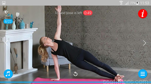 Daily Yoga Poses & Asanas for Ab & Slim Waist screenshots 1