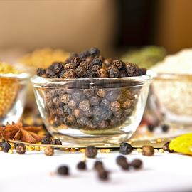 Black Pepper by Kunal Kumar Maurya - Food & Drink Ingredients ( bowl, pepper, dried pepper, black, black pepper )