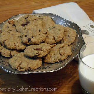 Oatmeal Walnut Raisin Cookies.