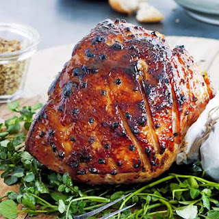 Maple, Mustard and Orange Glazed Ham