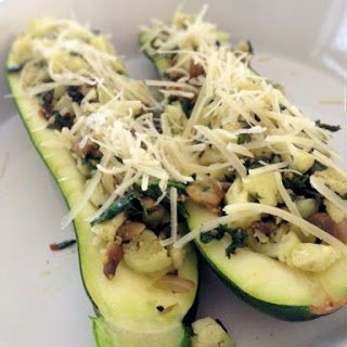 {Meals for One} Veggie Lover's Stuffed Zucchini.